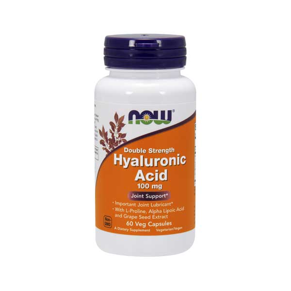 Hyaluronic Acid 100 mg 60 капсул NOW Foods