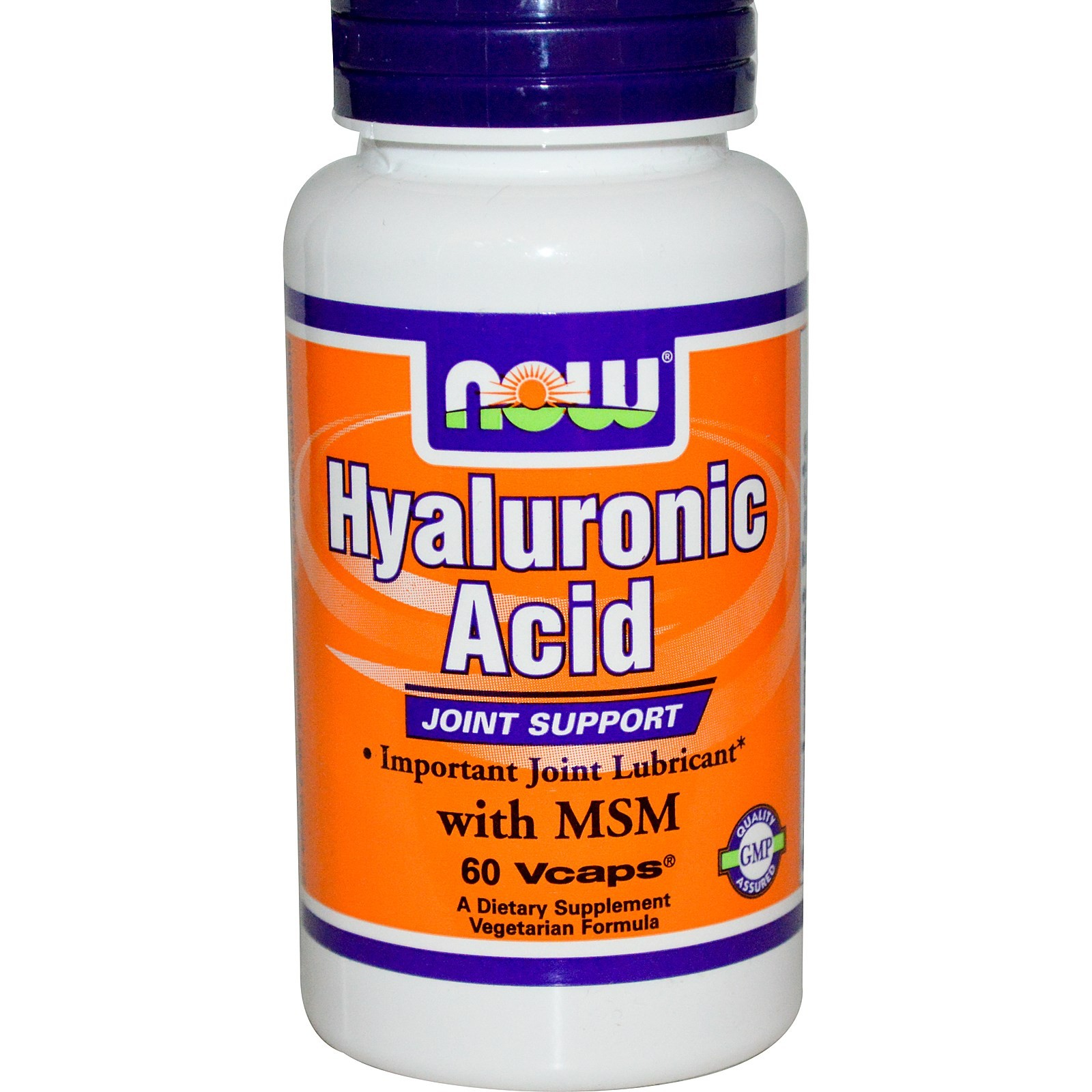 Hyaluronic Acid With MSM 60 капсул NOW Foods